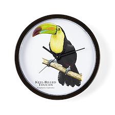 Keel-Billed Toucan Wall Clock