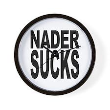 Nader Sucks Wall Clock