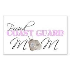 Proud Coast Guard Mom Rectangle Decal