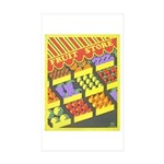 Fruit Store Rectangle Sticker 50 pk)