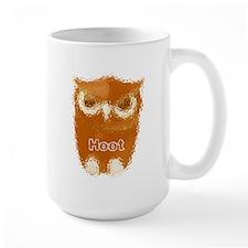 Orange Hoot Owl Mug