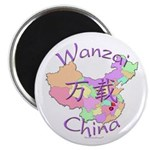 Wanzai China Map Magnet
