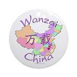 Wanzai China Map Ornament (Round)