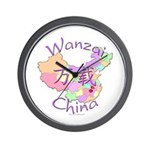 Wanzai China Map Wall Clock