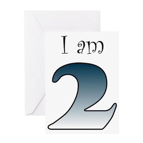 I am 2 (navy blue) Greeting Card