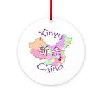 Xinyu China Map Ornament (Round)