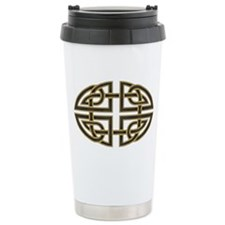 Celtic Black Knot Ceramic Travel Mug