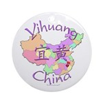 Yihuang China MAp Ornament (Round)