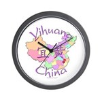 Yihuang China MAp Wall Clock