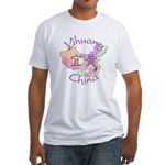 Yihuang China MAp Fitted T-Shirt