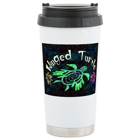 Winged Turtle Ceramic Travel Mug