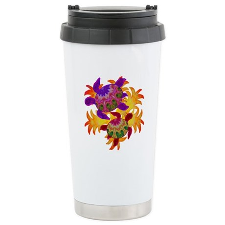 Flaming Turtles Ceramic Travel Mug