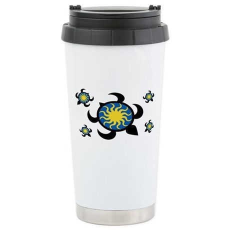 Sun Turtles Ceramic Travel Mug