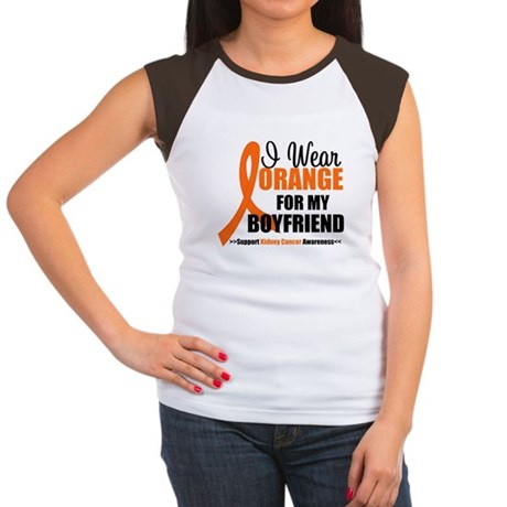 I Wear Orange Boyfriend Women's Cap Sleeve T-Shirt