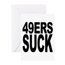49ers Suck Greeting Cards (Pk of 20)