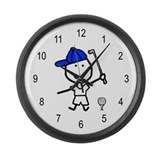 Boy & Golf Large Wall Clock
