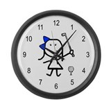 Girl & Golf Large Wall Clock