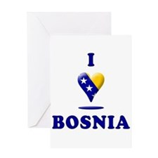 I Love Bosnia Greeting Card