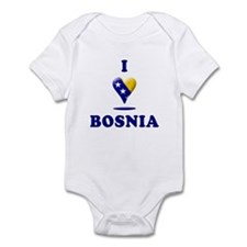 I Love Bosnia Infant Bodysuit