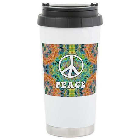 Groovy Peace Ceramic Travel Mug