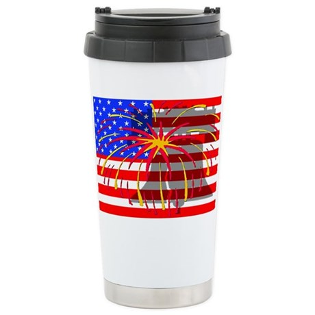 4th of July Independence Ceramic Travel Mug