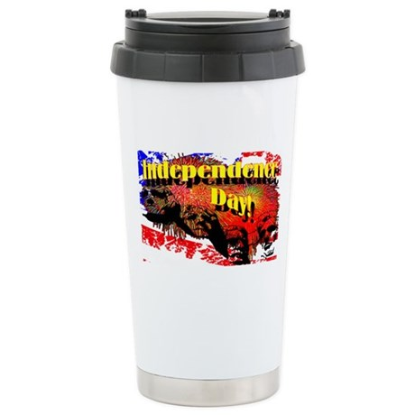 Independence Day Ceramic Travel Mug