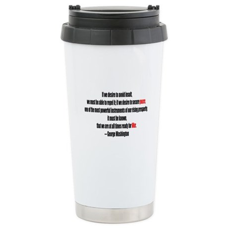 Peace and War Ceramic Travel Mug