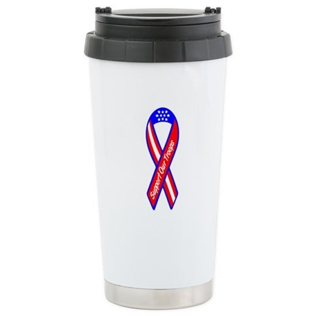 Support Our Troops Ceramic Travel Mug