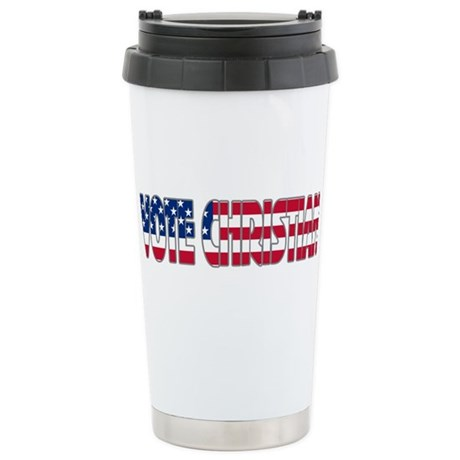 Vote Christian Ceramic Travel Mug