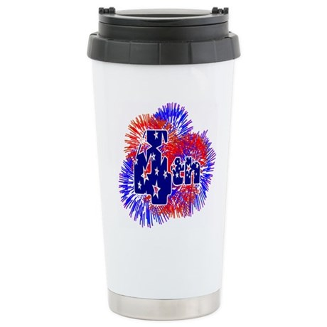 Fourth of July Ceramic Travel Mug