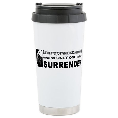 Anti Gun Control Ceramic Travel Mug