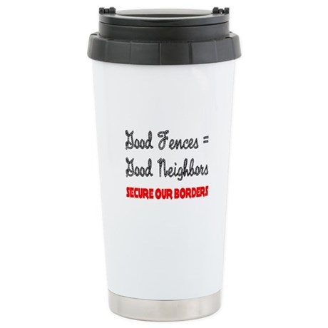 Anti Illegal Immigration Ceramic Travel Mug