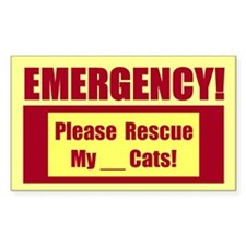 Rescue My Cats - Emergency Sticker B 10 Pack