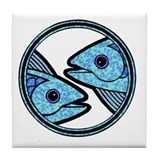 Pisces Astrology Sign Tile Coaster