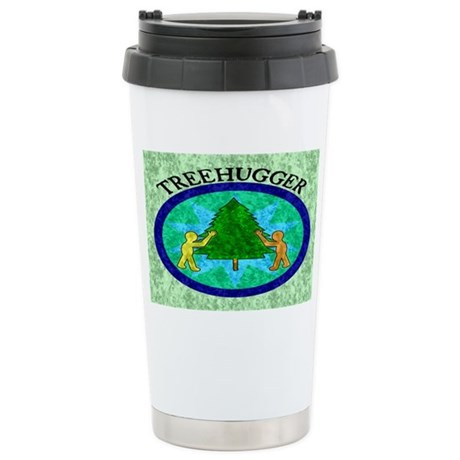 Tree Hugger Ceramic Travel Mug