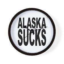 Alaska Sucks Wall Clock