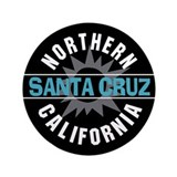 Santa Cruz California 3.5&quot; Button