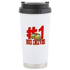 #1 Bus Driver Ceramic Travel Mug