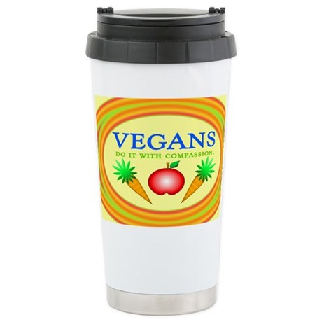 Vegans Do It... Ceramic Travel Mug