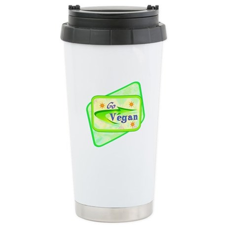 Go Vegan Ceramic Travel Mug