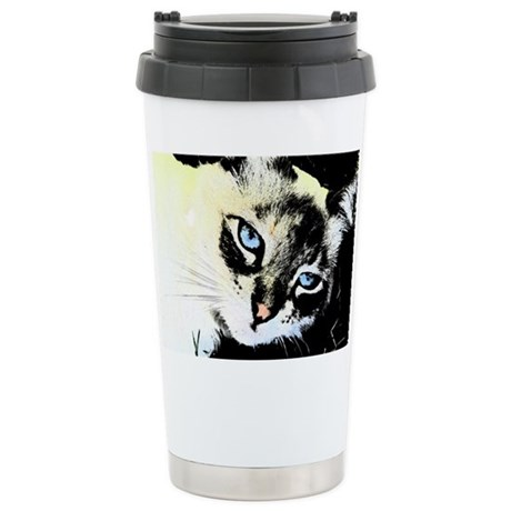 Ink Cat Ceramic Travel Mug