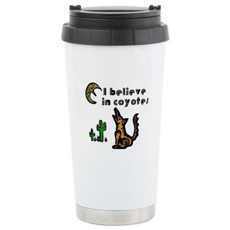 Believe in Coyotes Ceramic Travel Mug