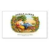 Perla del Mar Cigar Ad Rectangle Decal