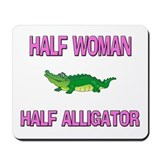 Half Woman Half Alligator Mousepad