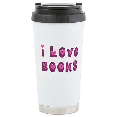 I Love Books Ceramic Travel Mug