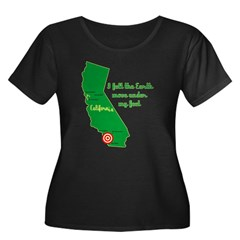 California Earthquake Women's Plus Size Scoop Neck