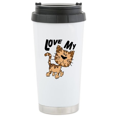 Love My Cat Ceramic Travel Mug