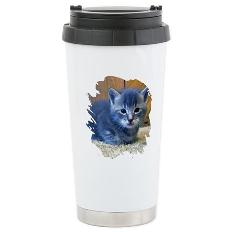 Grey Kitten Ceramic Travel Mug