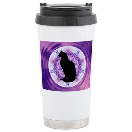 Kaleidoscope Cat Ceramic Travel Mug