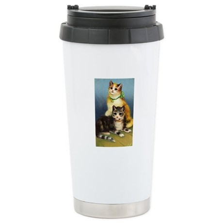 Cute Kittens Ceramic Travel Mug